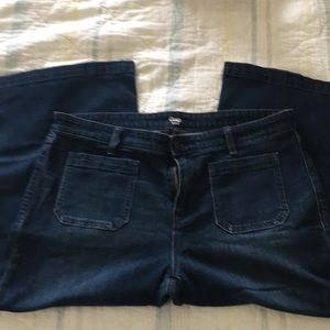 Gap wide leg Capri jeans